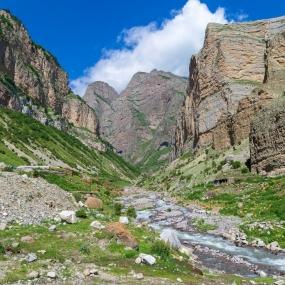 Чегемские водопады-Голубое озеро-Черекский каньон-Верхняя Балкария-Термальные источники